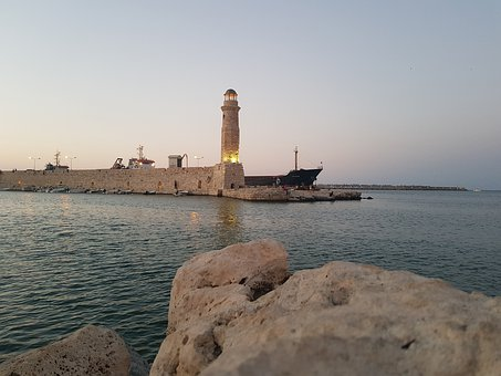 Rethimno, Rethymno, Greece, Crete, Summer, Port, City