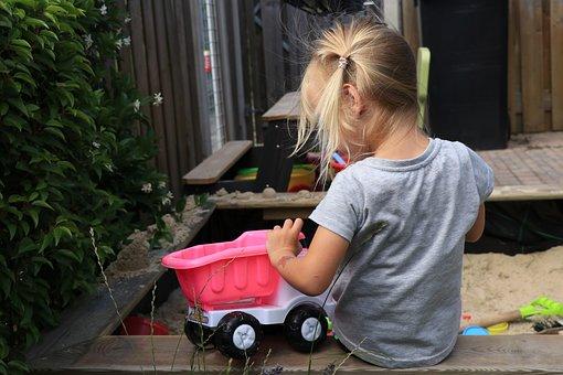 Child, Girl, Toddler, Play, Sand, Sandbox, Youth
