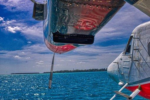Aircraft, Seaplane, Sky, Sea, Vacations, Cloud