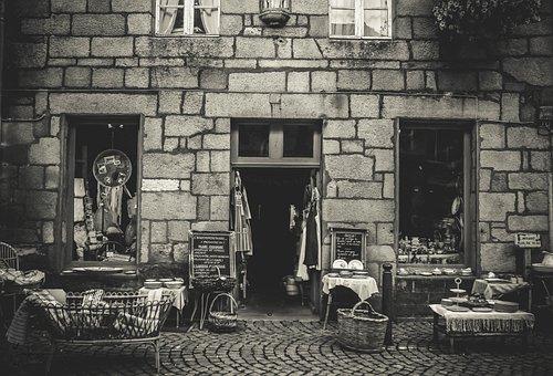 Shop, Antique, Old, Black-and-white, Antique Shop