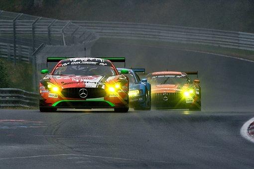 Car Racing, Motorsport, Racing Car, Mercedes, Spotlight