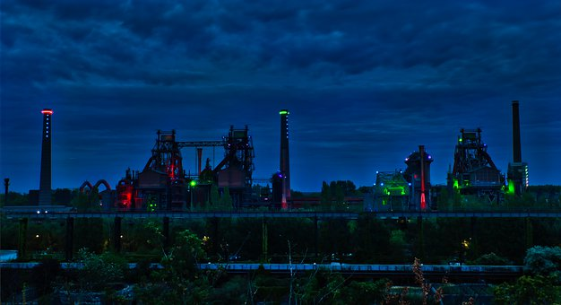 Industry, Steel, Building, Ruhr Area, Technology