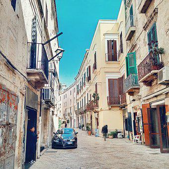 Bari, Italy, Street, Life, Architecture, Old Houses