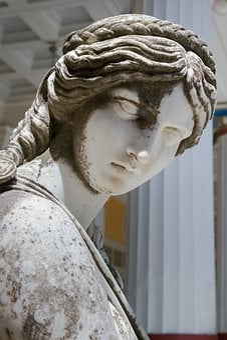 Muse, Woman, Sculpture, Statue, Achilleion, Corfu