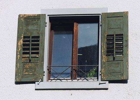 Window, Shutters, House, Architecture, Frame, Building
