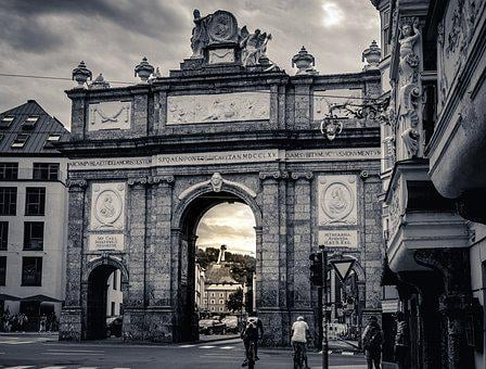 Triumphal Arch, Bergisel, Tyrol, Innsbruck, Austria