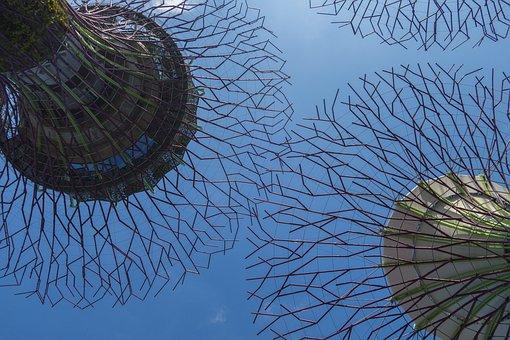 Aisa, Asian, Marinabay, Singapore, Sky, Building