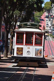 San Francisco, Cable Car, California, Tram, Road, Trip