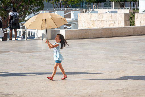 Sun, Parasol, Tourism, Child, Summer, Travel