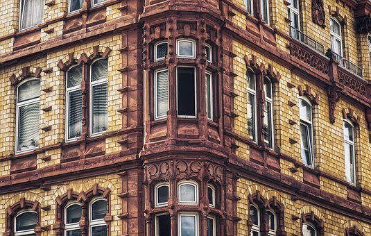 House, Facade, Architecture, Building, City, Glass, Old