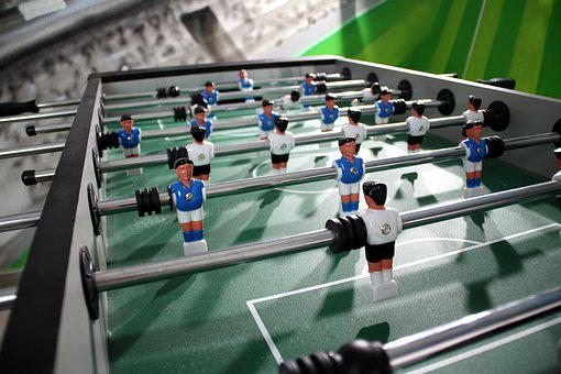 Football Table, Play, Close Up Football Table, Game