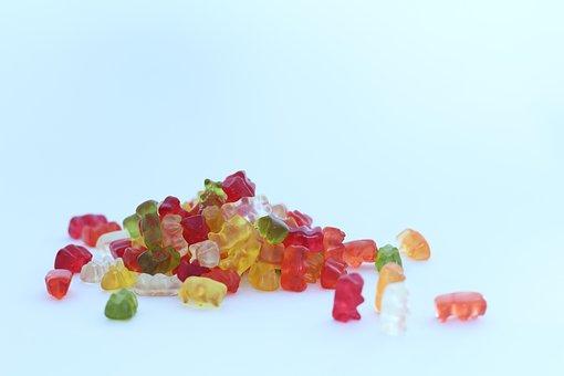 Gummi Bears, Jelly Beans, Colourful, Sweets, Jellybeans