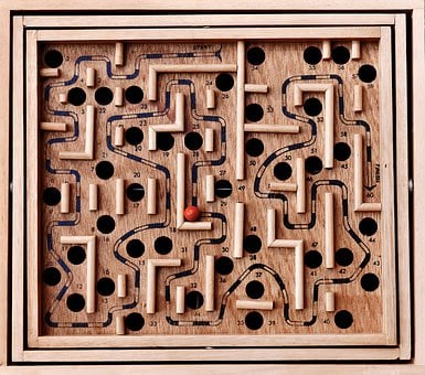 Labyrinth, Ball, Play, Skill, Toys, Solution, Confusion
