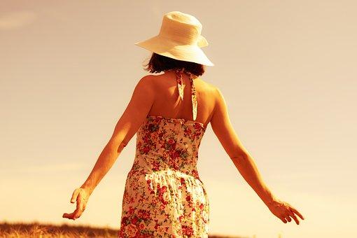 Woman, Dress, Hat, Girl, Female, Summer, Model, Person