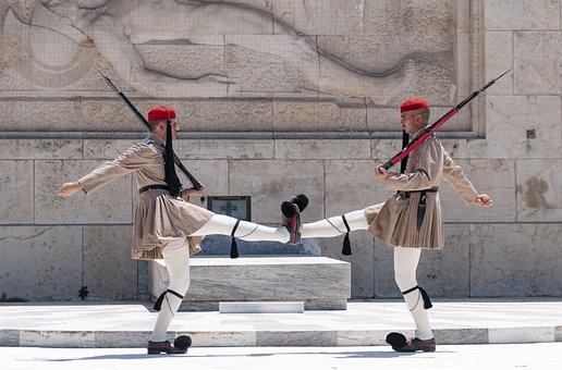 Greece, Athens, Parliament, Guard, Evzones, Army, Greek