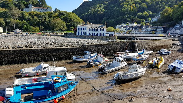 Lynmouth, Boats, Devon, Holiday