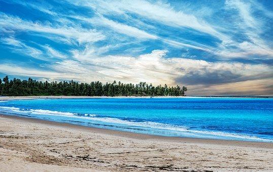 Beach, Sun, Ocean, Summer, Vacation, Landscape