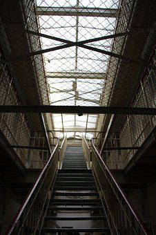Prison, Window, Stairs, Architecture, Imprisoned, Old