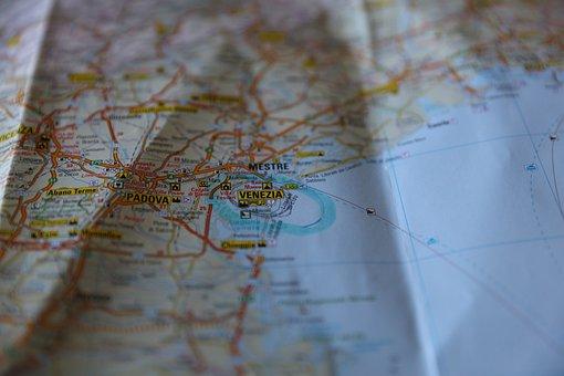 Map, Venice, Italy, Tourist, Travel, Vacation