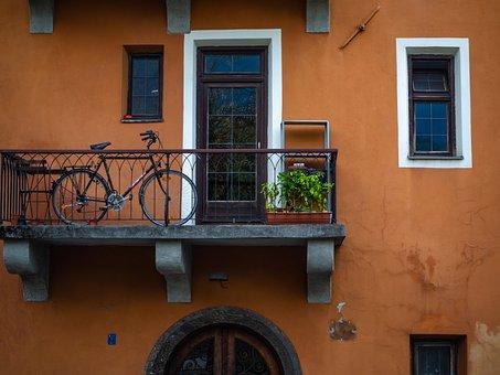 Balcony, Hauswand, Bike, Facade, Tyrol, Innsbruck