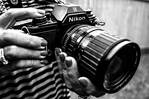 Camera, Old, Bw, Photography, Vintage, Retro