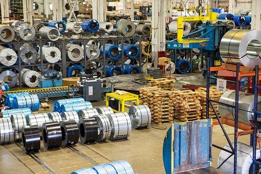 Steel, Warehouse, Metal, Industry