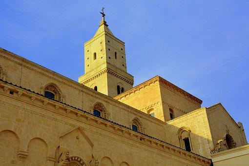 Church, Duomo, Matera, Italy, Architecture, Religion