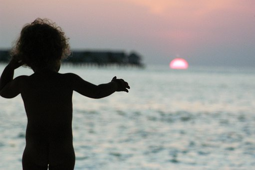 Maldives, Sunset, Bimbo, Nature, Holiday, Sea, Summer