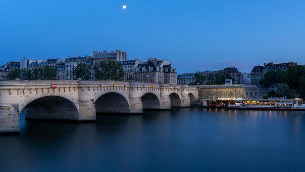 Paris, River, New Bridge, City, Bridge