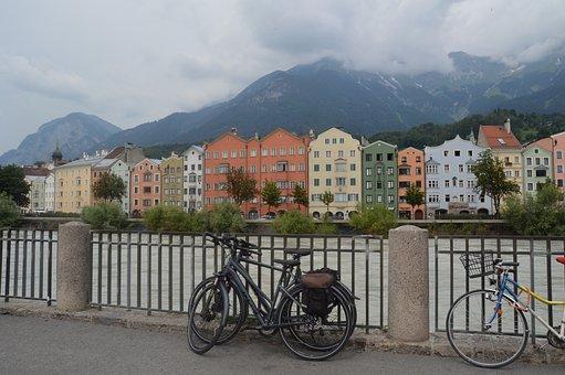 Innsbruck, City, Facade, Houses, Buildings, Austria