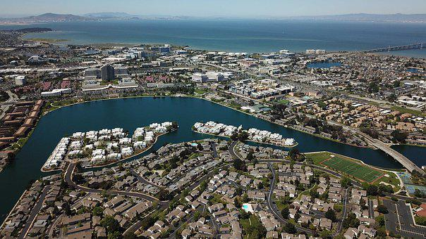 Foster City, Drone, Aerial, California, Waterfront