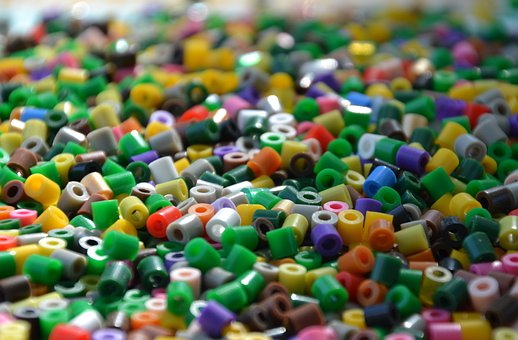 Ironing Beads, Colorful, Background, Beads, Child