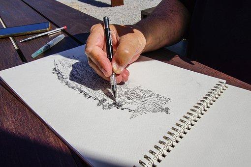 Drawing, Art, Santiago, Alentejo, Nature, Design