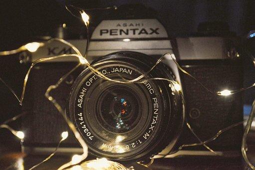 Camera, Lens, Pentax, Photo, Lights, Brightness, Focus