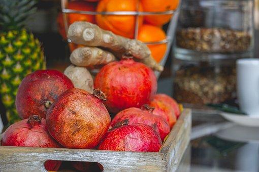 Pomegranate, Fruit, Fruits, Vitamins, Food