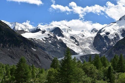 Glacier, Morteratsch, Switzerland, Engadin, Graubünden