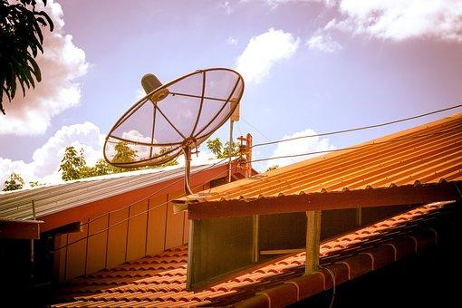 Satellite Dish, Roof, Television, Antenna, Tv, Home