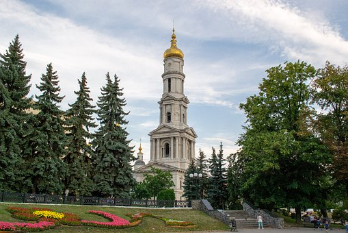 Kharkov, City, Ukraine, Sky, Architecture, Evening