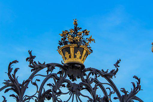 Ornament, Gate, Metal, Wrought Iron, Architectural