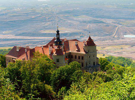 Castle, Extraction, Mine, Jizeří, Architecture