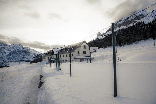 School, Mountain, Nature, Dolomites, Travel, Misurina