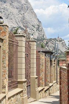 Street, Fence, City, Mountains, Beautiful, Narrow