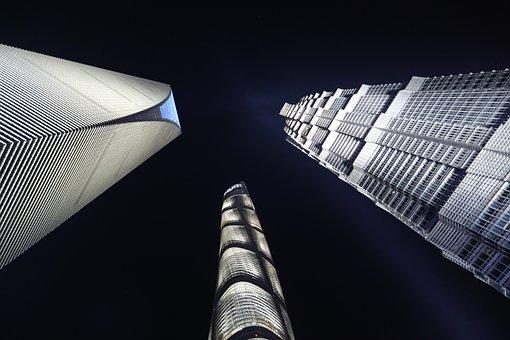 Night, City, Architecture, Urban, Cityscape, Skyline