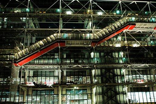 Architecture, Paris, Centre Georges Pompidou, Beaubourg