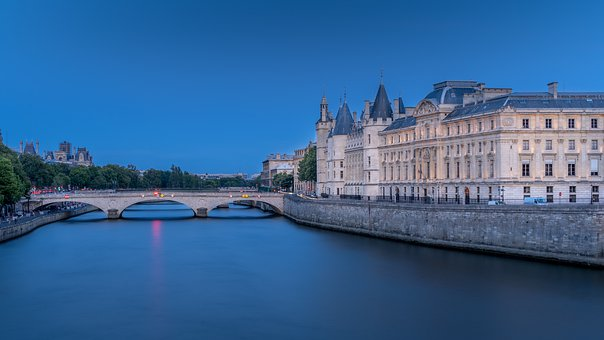 Paris, River, Bridge, Bridge To Exchange, Concierge