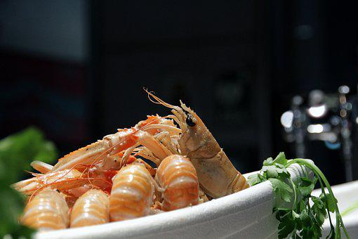 Prawn, Seafood, Shrimp, Cooked, Healthy