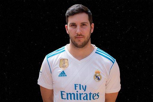Portrait, T-shirt, Football, Madrid, Model