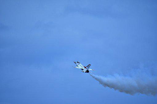 F16 Stalling Maneuver, Warplane, F16 Aerobics, Aviation