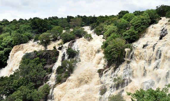 Bharachukki, Waterfall, Waterfalls, Cauvery, Nature