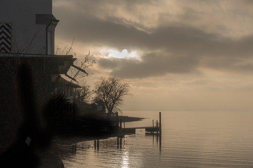 Lake, Abendstimmung, Evening Sky, Lighting, Waters